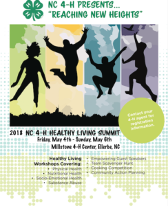 Cover photo for NC 4-H Healthy Living Summit