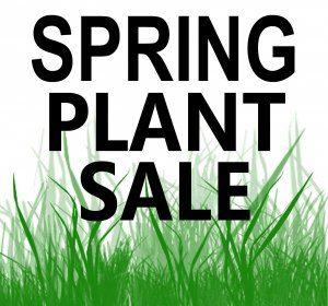 Spring plant sale flyer image