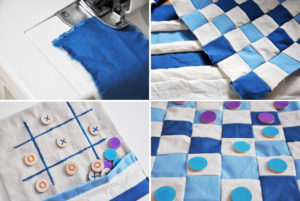 Image of fabric game boards