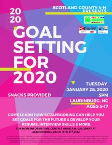 4H Goal Setting 2020
