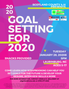 Cover photo for Goal Setting for 2020
