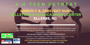 4-H Teen Retreat flyer