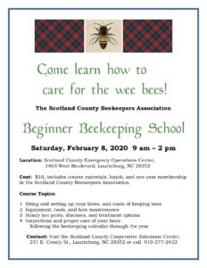 Beginner Beekeeping School Flyer