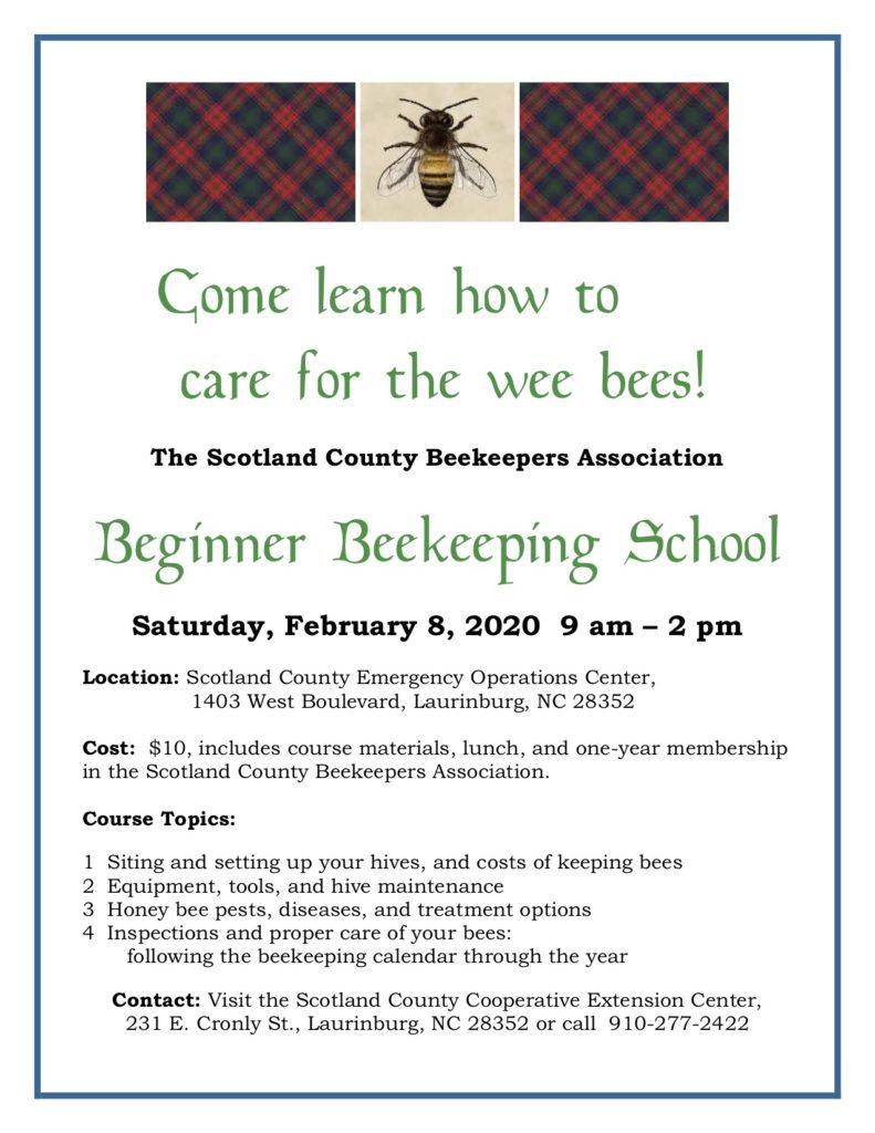Beginner Beekeeping School flyer image