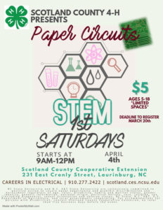 Cover photo for POSTPONED! 4-H First Saturdays: Paper Circuits