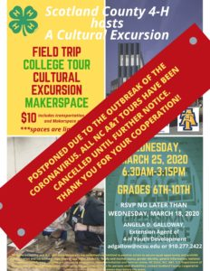 Cover photo for POSTPONED Scotland County 4-H Cultural Excursion to N.C. A&T State University
