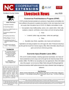 Cover photo for July Livestock Newsletter
