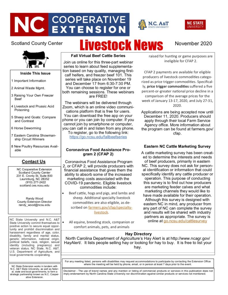 Livestock Newsletter