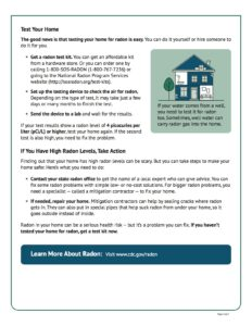 Test Your Home for Radon page 2
