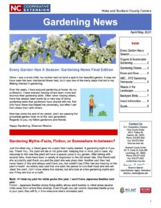 Cover photo for April/May Gardening Newsletter
