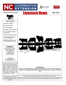 Cover photo for May 2021 Livestock Newsletter