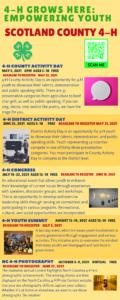 4-H Summer Activities 2021
