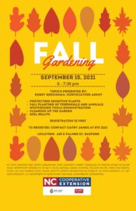 Fall Gardening flyer